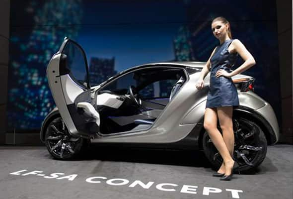 The Lexus City Car Concept is on display during the second press day at the Geneva International Motor Show in Geneva, Switzerland Wednesday March 4, 2015.