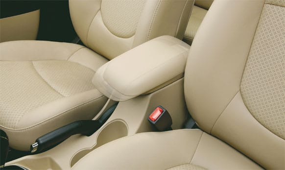 Sliding armrest with storage. (Picture courtesy: http://www.hyundai.com)