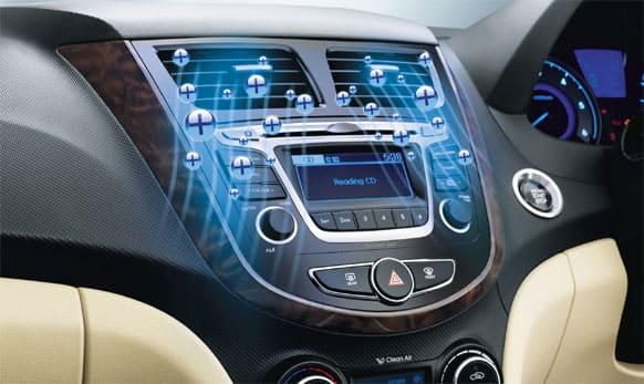 Two din audio with 1GB Memory. (Picture courtesy: http://www.hyundai.com)