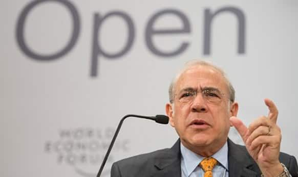 Jose Angel Gurria, Secretary-General of the Organisation for Economic Co-operation and Development (OECD), speaks during the