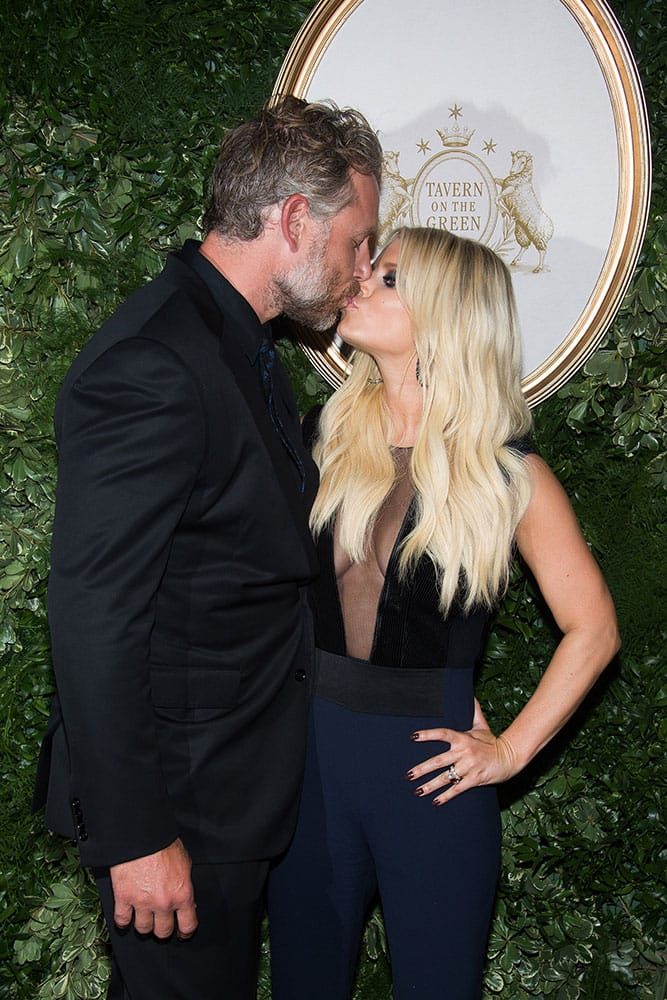 Jessica Simpson and Eric Johnson celebrate the 10th anniversary of the Jessica Simpson Collection during New York Fashion Week Spring/Summer 2016.