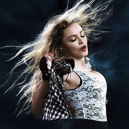 Madonna :- Electricity in the Air! ❤ #rebelhearttour -twitter