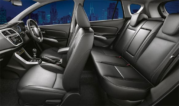 The S-Cross has a spacious interior with good seating.