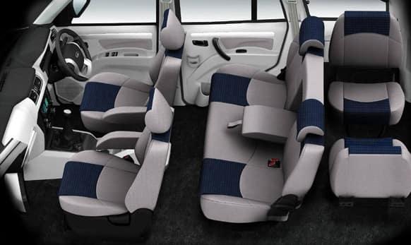Premium blue-grey interiors.