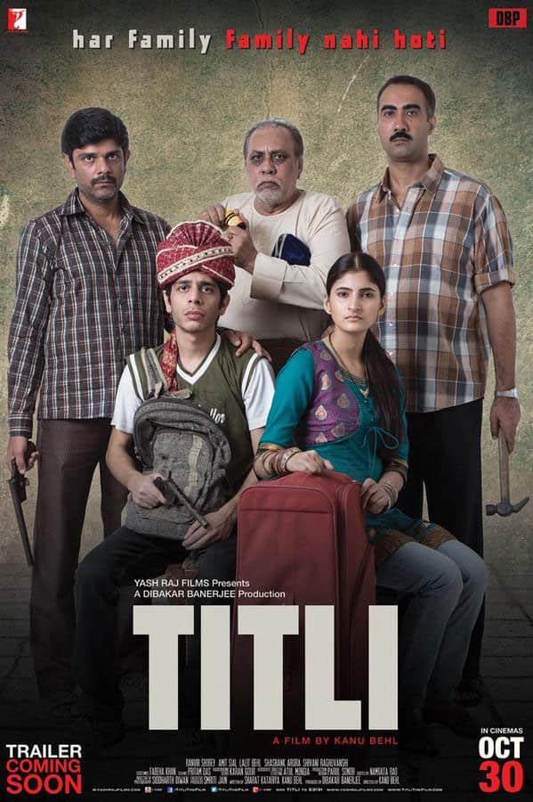 Here's the poster of Yash Raj and Dibakar Banerjee's #Titli. Releases on 30 Oct 2015. - Twitter@taran_adarsh