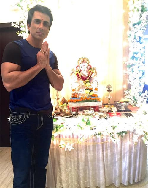 Happy Ganesh Chaturthi... May Ganpati bless everyone!!!!! Twitter@SonuSood