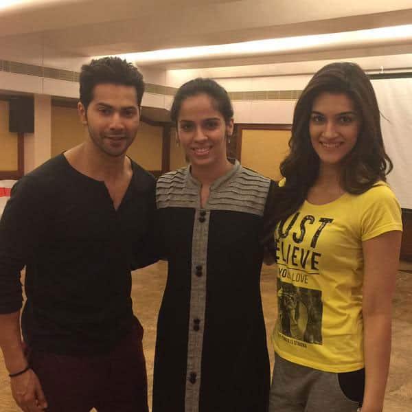 @Varun_dvn @kritisanon It was nice meeting Varun and Kriti on the sets of Dilwale. Twitter@NSaina