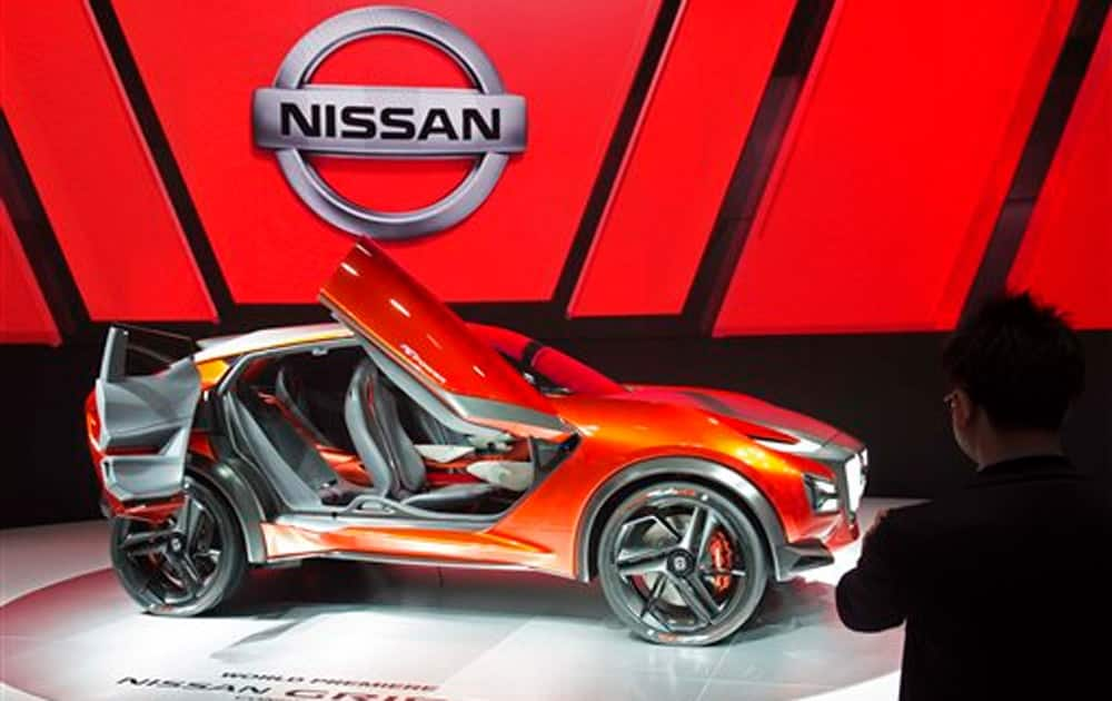 The Nissan Gripz concept car is presented on the second press day of the Frankfurt Auto Show IAA Frankfurt, Germany.