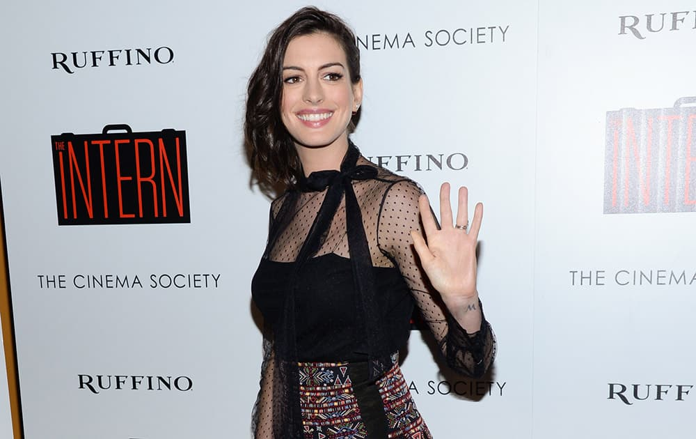Actress Anne Hathaway attends a special screening of