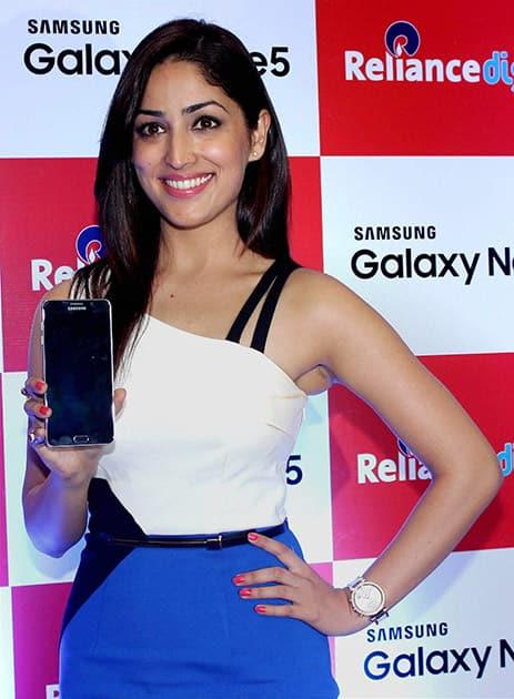 Bollywood actor Yami Gautam during the launch of Samsung Galaxy Note 5 in Mumbai.