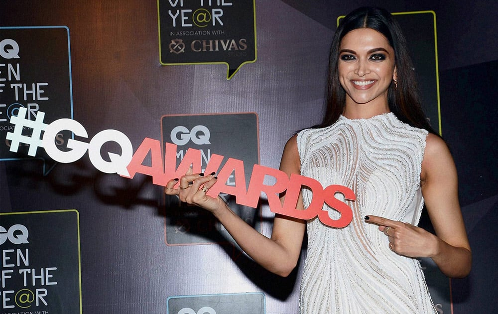 Bollywood actor Deepika Padukone during the GQ Men of The Year Awards 2015.
