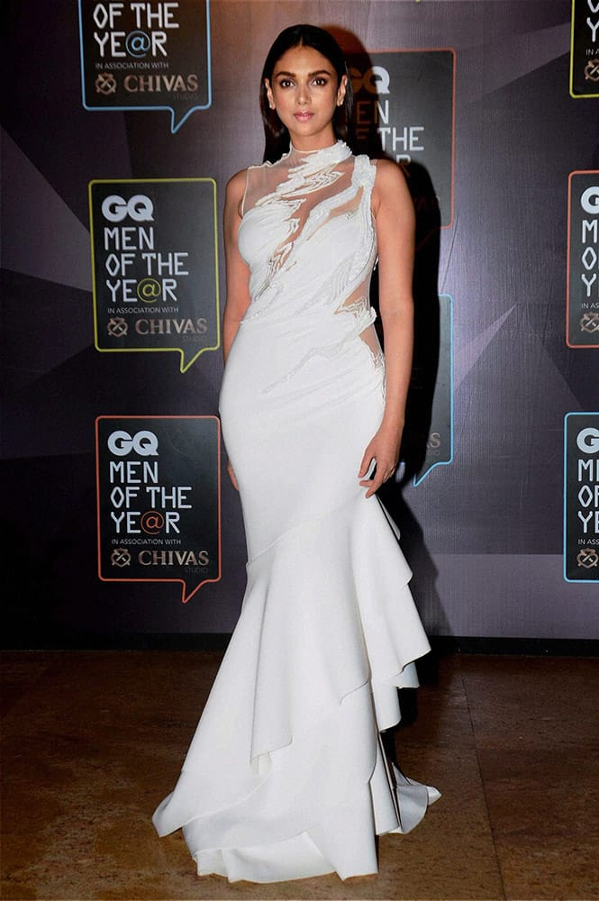 Bollywood Actor Aditi Rao Hydari during the GQ Men of The Year Awards 2015 in Mumbai.