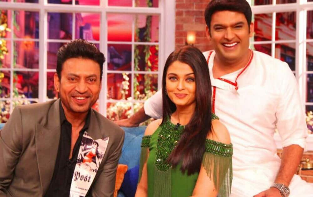 KAPIL :- Watch team jazbaa @irrfan_k Aishwarya rai Bachchan n @_SanjayGupta in comedy nights tonight at 10 pm -twitter