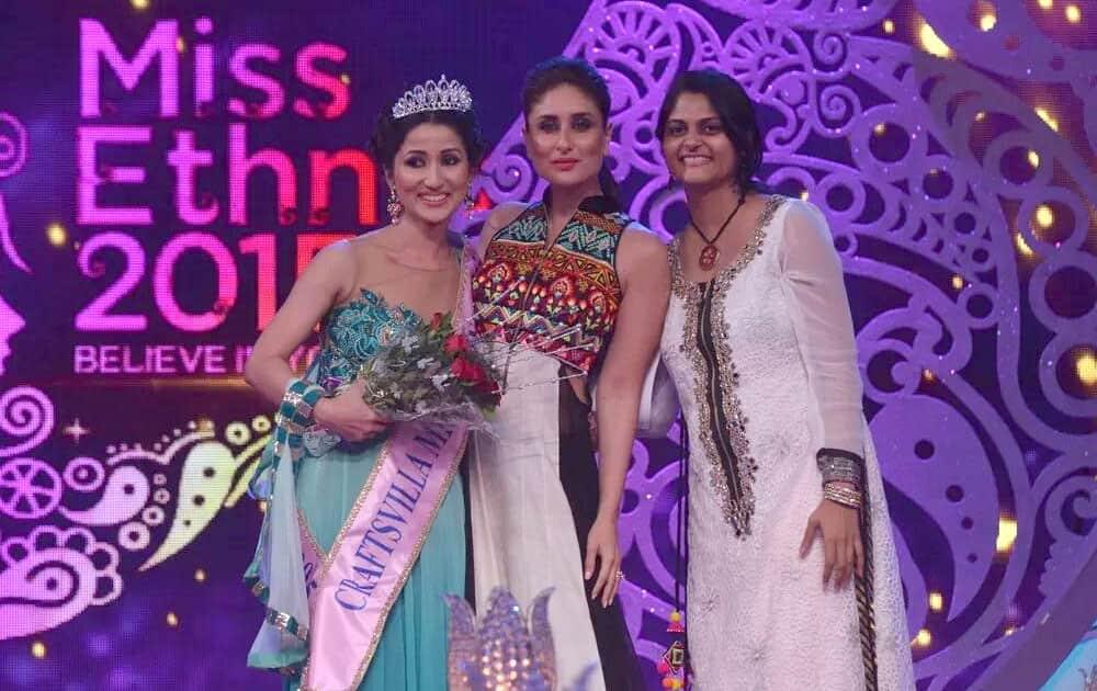 Exclusive Pic! Kareena Kapoor with Miss Ethnic 2015 winner Monisha Doley. Twitter