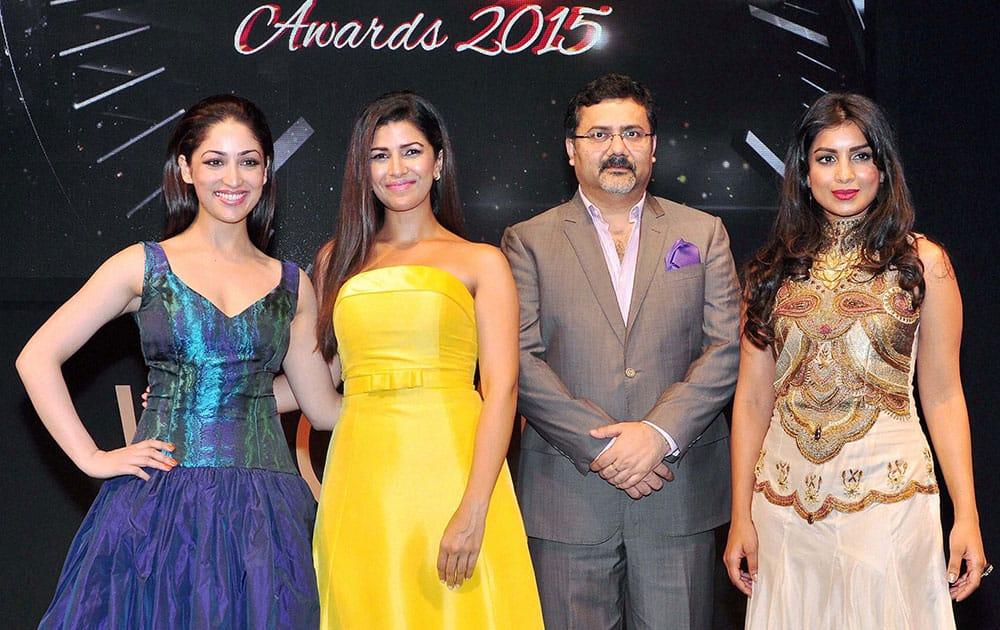 Bollywood actress Yami Gautam, Nimrat Kaur, Mitrajit Bhattacharya, Pallavi Sharda at Watch World Awards function in Gurgaon.