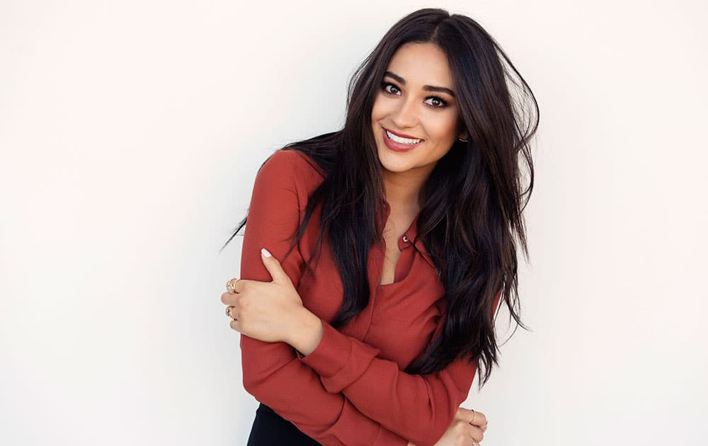 actress and author Shay Mitchell poses for a portrait in New York to promote her new book