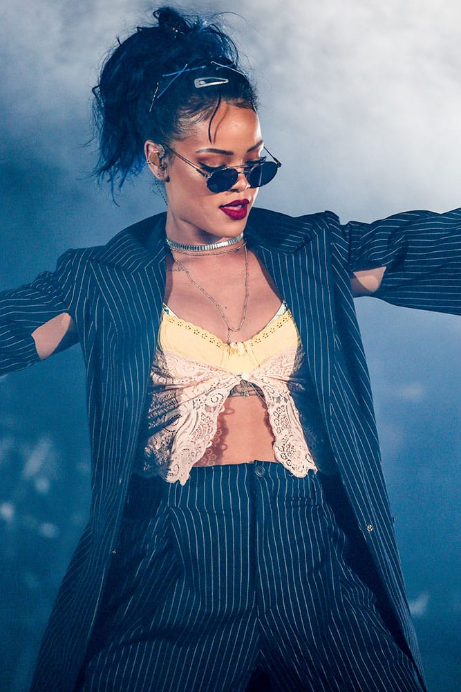 Rihanna performs at the We Can Survive Concert at the Hollywood Bowl in Los Angeles.
