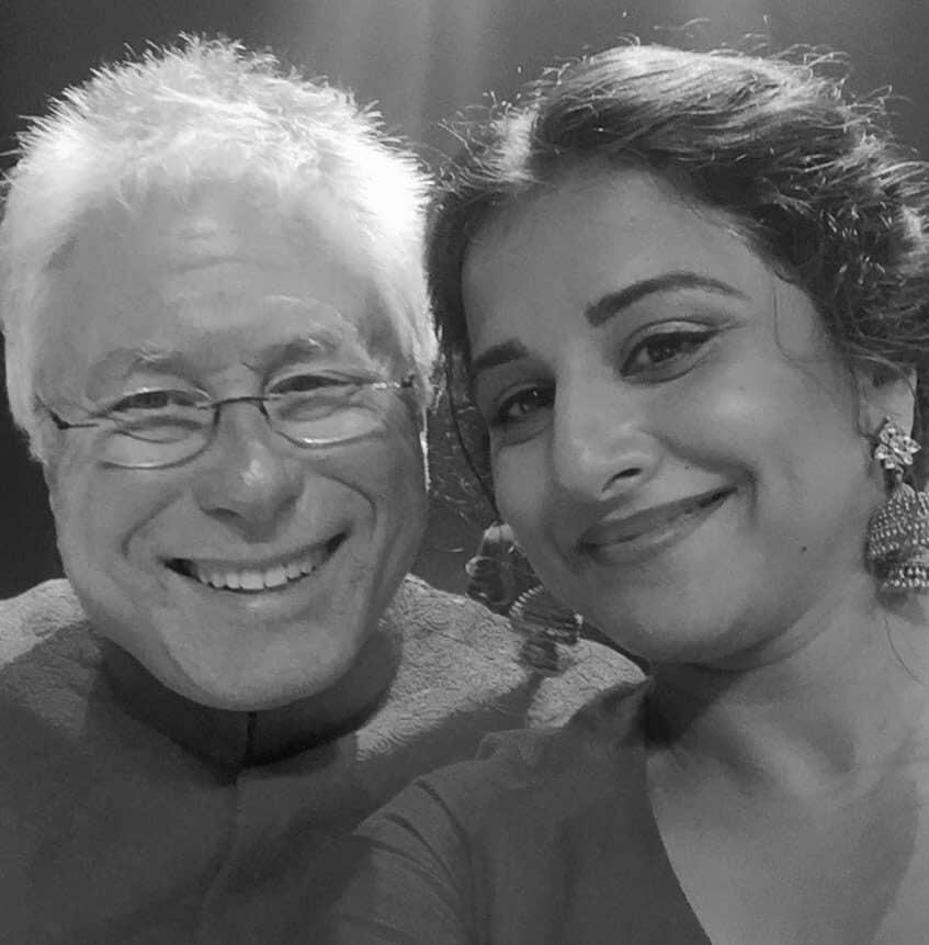 vidya balan :- With Alan Menken,the music composer of Beauty and the Beast who is an 8time Oscar award winner - twitter