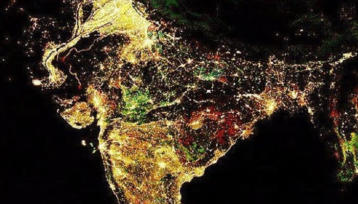 See pic: Stunning image of nighttime Diwali lights in India