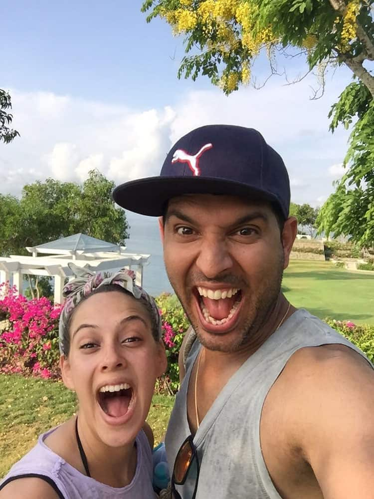Yuvraj declared his #engagement to #hazelkeech in Bali with this adorable picture. So fun! -twitter