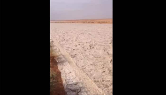 Watch: Nature's wonder – The bizarre sand river in Iraq!