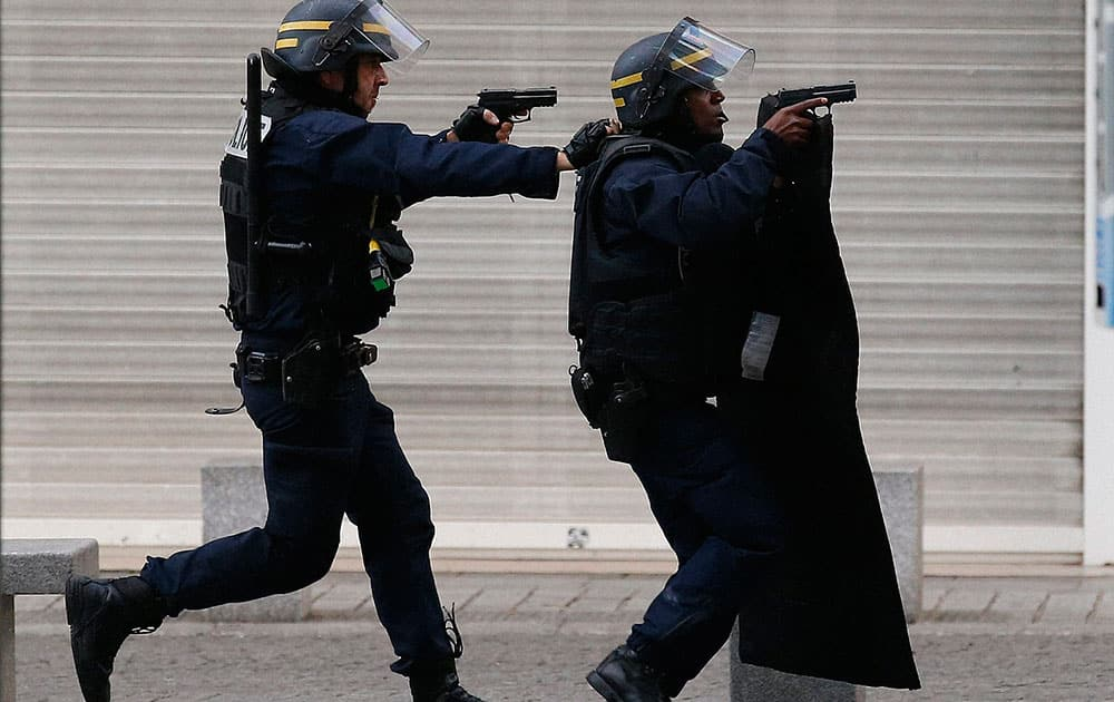 Police forces operate in Saint-Denis, a northern suburb of Paris.
