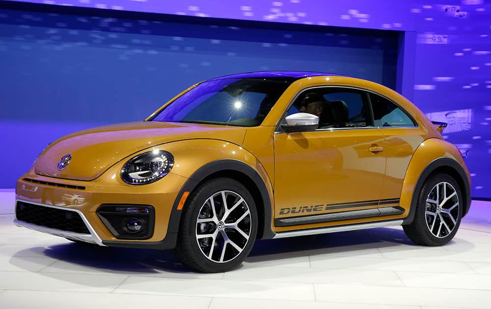 The 2017 Volkswagen Beetle Dune is on display at the Los Angeles Auto Show, in Los Angeles.