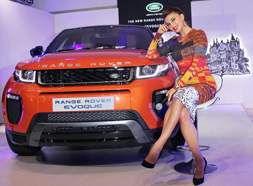 Bollywood actor Jacqueline Fernandez during the launch of Range Rover Evoque in Mumbai.