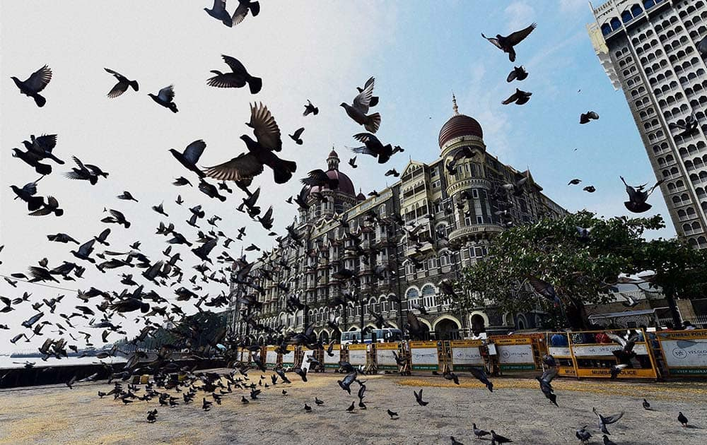 A view of Taj Mahal hotel which was targeted during the 26/11 terror attack in 2008 in Mumbai.