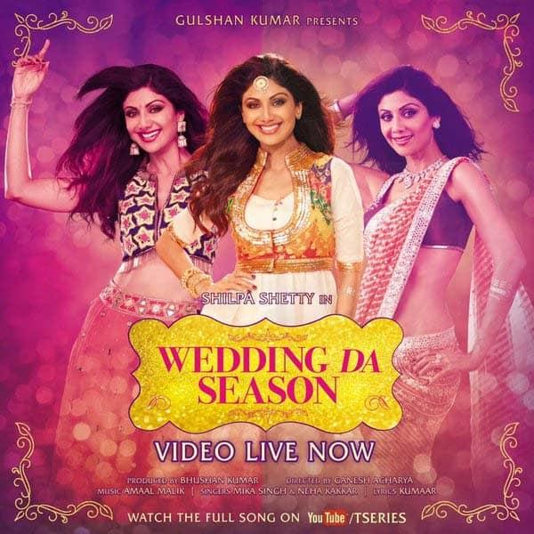 Grab your dancing shoes! It's time to celebrate #WeddingDaSeason featuring @TheShilpaShetty- http://bit.ly/WeddingDaSeason. Twitter@TheRajKundra