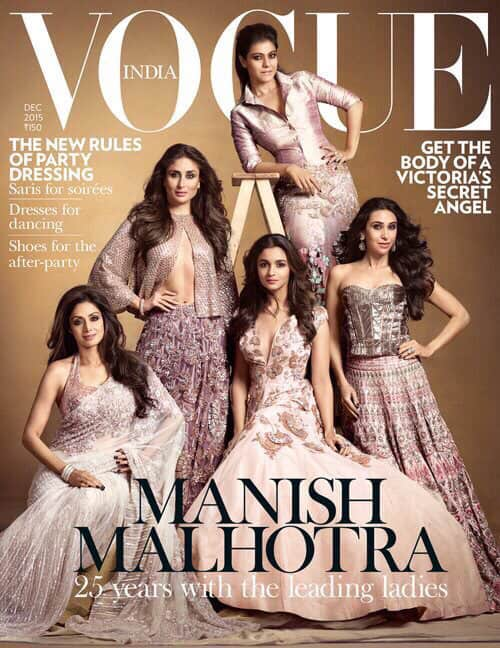 Alia Bhatt :- Humbled to be a part of Manishs illustrious journey!! Thank u for including me in this league of extraordinary women  -twitter