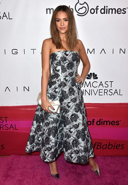 Jessica Alba arrives at the March of Dimes Celebration of Babies honoring Alba at the Beverly Wilshire hotel.