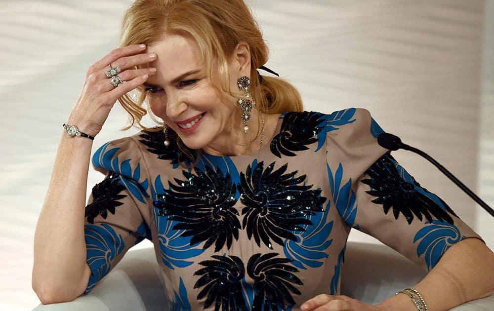 Actress Nicole Kidman at the HT Leadership Summit 2015 in New Delhi.