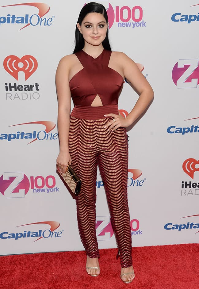 Actress Ariel Winter attends Z100's iHeartRadio Jingle Ball 2015, presented by Capital One, at Madison Square Garden in New York.