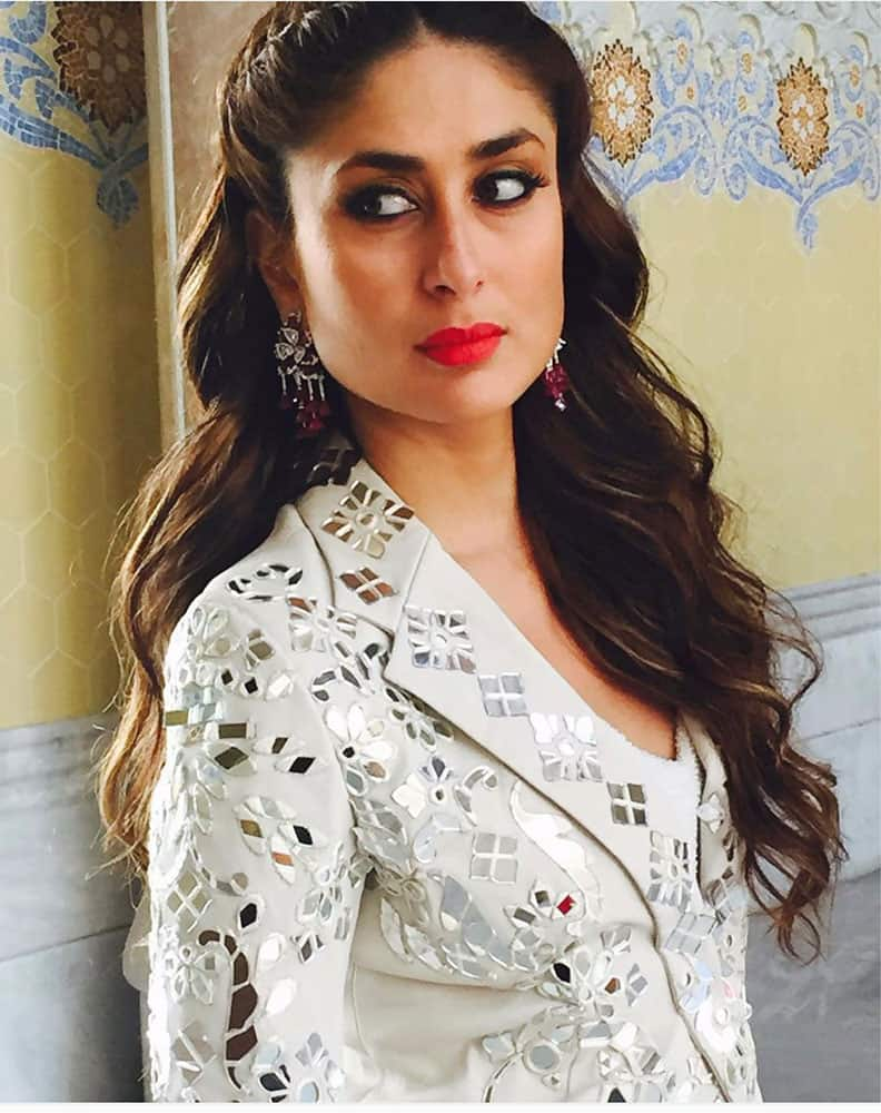 Kareena from the set of the Bazaar Bride photoshoot -twitter