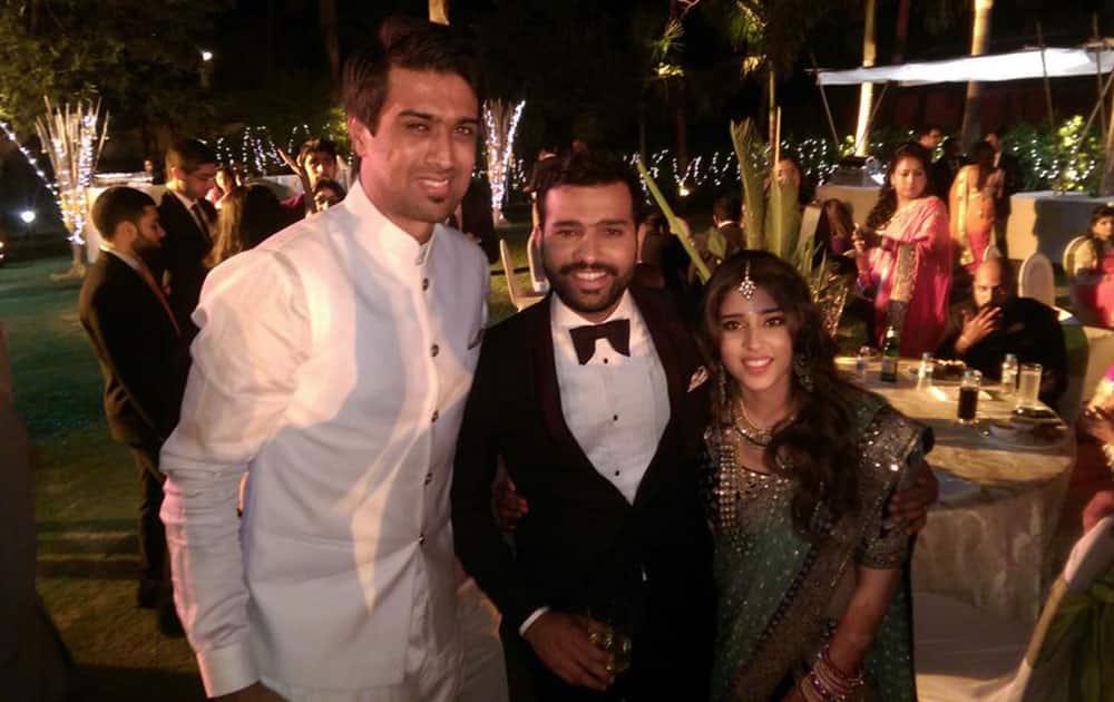 Rahul Sharma :- Congratulations Mr and Mrs Sharma cute couple god bless u both #RitsyWedsRo @ImRo45 -twitter