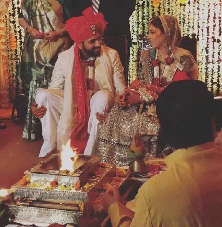 Rohit Sharma :- Mr. & Mrs. Sharma #HitmanKiShaadi -twitter