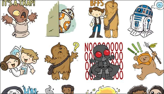 Facebook launches free 'Star Wars' sticker emojis!