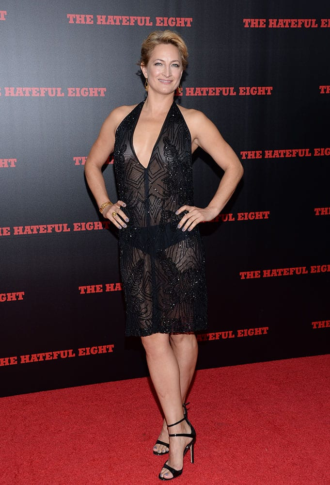 Actress Zoe Bell attends the premiere of