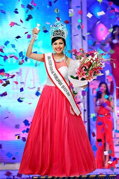 Namita Paritosh Kohok who has won Mrs International Worldwide Queen 2015 title held in Hong Kong earlier this week.