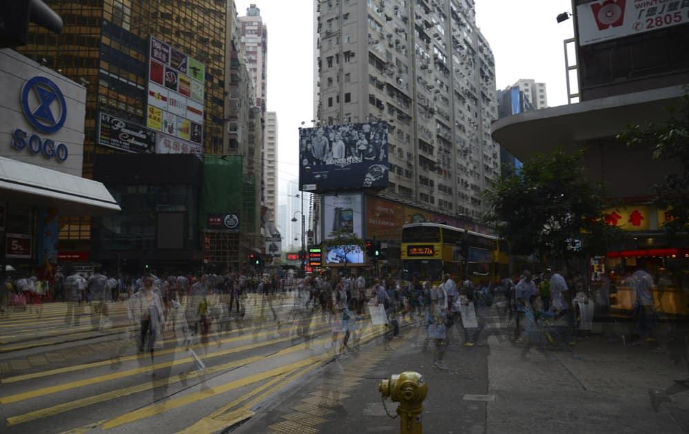 2. Causeway Bay (main street shops), Hong Kong