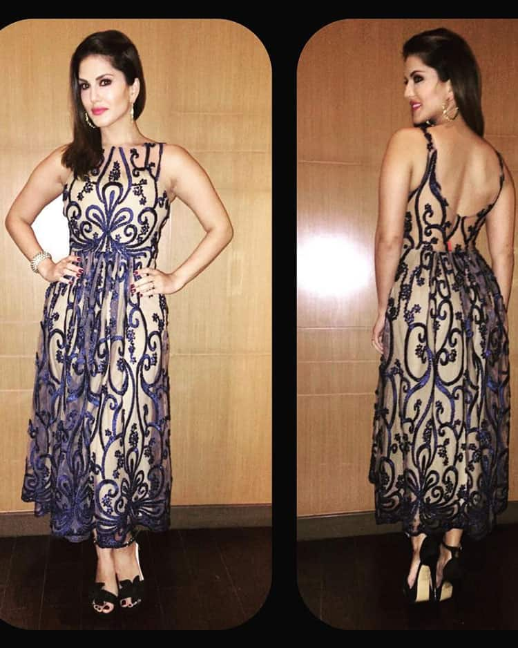 Sunny Leone :- Love this dress by @dev__sood -instagram