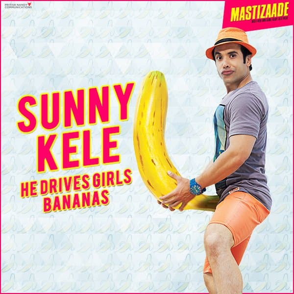 Tusshar Kapoor poses with a banana! Ewww...that's overtly suggestive!