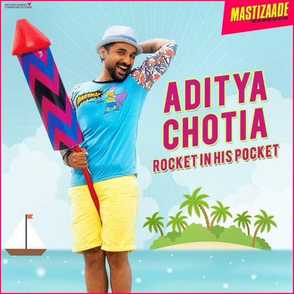 Vir Das strategically holds a rocket! Naughty boy.