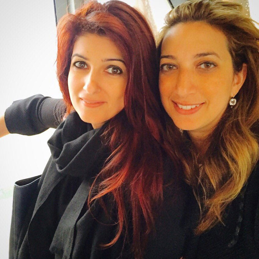 Twinkle Khanna :- With my bestie-close to sprouting 50 shades of grey, we decided to do 50 shades of l'oreal instead:)  -twitter