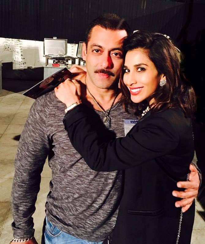 Sophie Choudhry poses for a picture with the birthday boy. -twitter