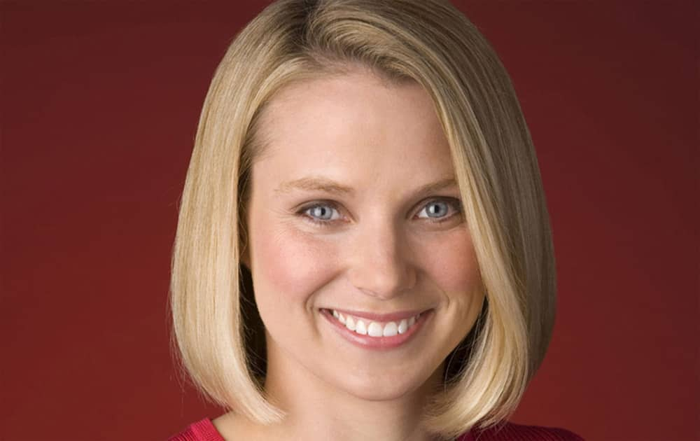 Marissa Mayer. President and CEO of Yahoo.