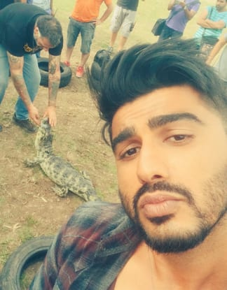 Got a baby croc photo bombing my selfies now...Just another day on Khatron Ke Khiladi in Argentina #crocodiledundee