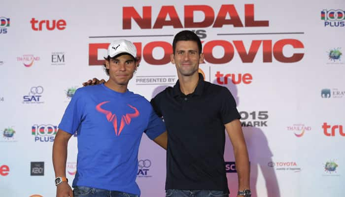VIDEO: Novak Djokovic, Rafael Nadal take rivalry to a 'new' surface