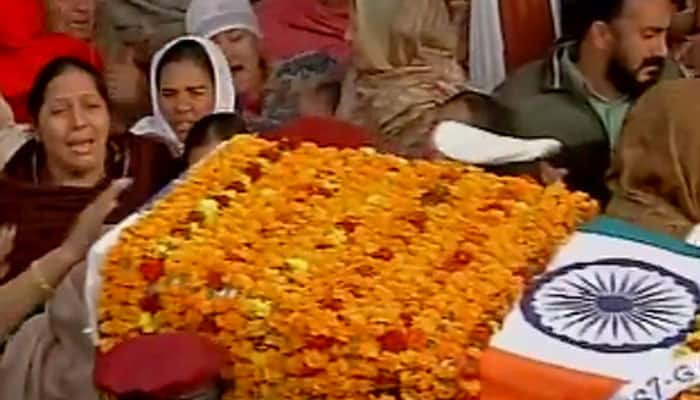 VIDEO: Family bursts into tears after seeing mortal remains of martyred Garud Commando Gursewak Singh